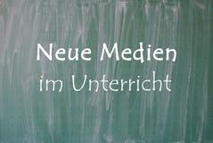 Neue Medien im Unterricht 免版税库存照片