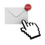 Neue Meldung der e-Postmitteilung Stockbilder