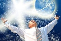 Neue Mentalität im freien Weltraum Lizenzfreies Stockfoto