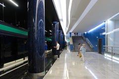 Neue Metrostation Novokrestovskaya in St Petersburg, Russland stockfotos