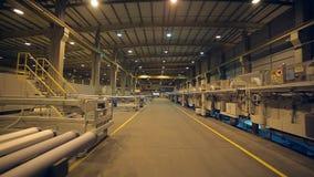 Neue moderne Industrieanlage stock footage