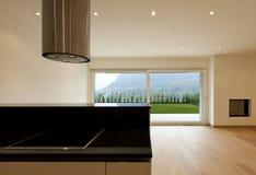 Neue moderne Wohnung stockbilder