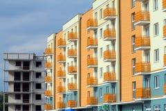 Neue moderne Wohnungen Stockfotos