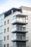 Neue moderne Wohnungen im Stadtzentrum Stockfotografie