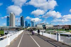 Neue moderne Wolkenkratzer in Vilnius Lizenzfreies Stockbild