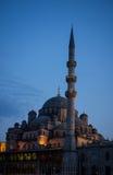 Neue Moschee in Istanbul die Türkei bei Sonnenuntergang Stockfotografie