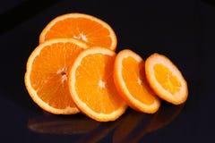 Neue orange Scheibe Stockbilder