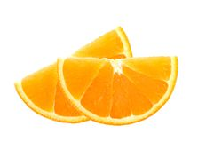 Neue orange Scheiben lokalisiert auf Weiß Stockbild