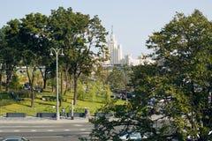 Neue Parks in Moskau lizenzfreies stockbild