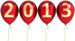 Neue Partydekoration mit 2013 Jahrballonen Lizenzfreie Stockfotografie