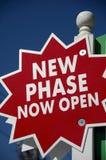 Neue Phase geöffnet Lizenzfreie Stockfotos