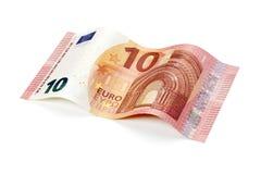 Neue Rechnung des Euros zehn lokalisiert mit Beschneidungspfad Lizenzfreie Stockbilder