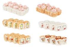 Neue Rollen SSet-Sushi Lizenzfreie Stockbilder