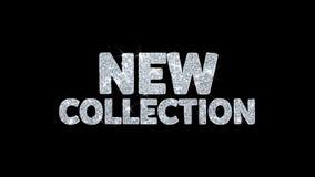 Neue Sammlungsblinkentextwunsch-Partikelgrüße, Einladung, Feierhintergrund stock abbildung