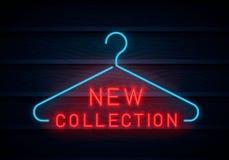 Neue Sammlungsleuchtreklame lizenzfreie abbildung