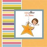 Neue Schätzchenansagenkarte Stockbild