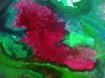 Neue schöne moderne strukturierte nasse mit Blumenwäsche des Aquarellkunstzusammenfassungshintergrundes verwischte Fantasie Lizenzfreies Stockfoto