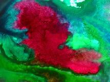 Neue schöne moderne strukturierte nasse mit Blumenwäsche des Aquarellkunstzusammenfassungshintergrundes verwischte Fantasie Lizenzfreies Stockbild