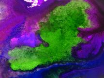 Neue schöne moderne strukturierte nasse mit Blumenwäsche des Aquarellkunstzusammenfassungshintergrundes verwischte Fantasie Stockbilder