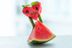 Neue Scheiben der Wassermelone lizenzfreies stockfoto