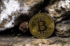 Neue Schlüsselwährungs-, bitcoin- und Computergebühr finanzieren Karte Lizenzfreies Stockbild