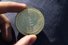 Neue Schlüsselwährungs-, bitcoin- und Computergebührenfinanzierung Lizenzfreie Stockbilder