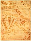Neue Schlagzeilen des Geschäfts mit altem Papier lizenzfreie stockbilder