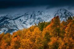Neue Schneefälle über Kebler Stockfoto