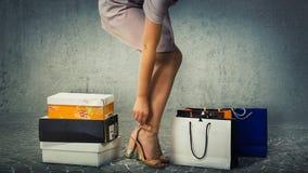 Neue Schuhe stockfotografie