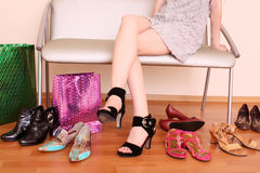 Neue Schuhe Lizenzfreie Stockfotos