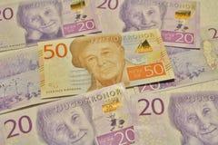 Neue schwedische Banknoten stockfotografie