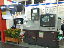 Neue schwere Maschine in asiean metallex 2014 bitec bangna, Bangkok Lizenzfreie Stockfotos