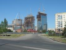 Neue Stadt - Bau Stockbilder