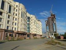 Neue Stadt - Bau Stockbild