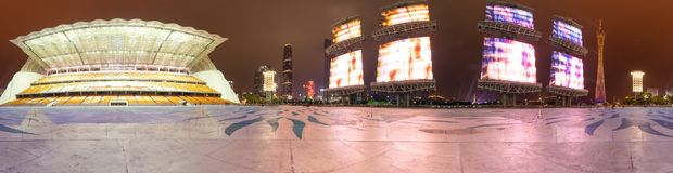 Neue Stadt Guangzhous Zhujiang stockfotos