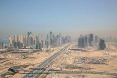 Neue Stadt von Dubai Stockfotos