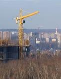 Neue Stadtgebäude der Turmkran-Konstrukte Stockfoto