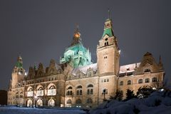 Neue Stadtrathaus Hanover stockbild