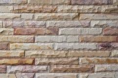 Neue SteinBacksteinmauer. Lizenzfreie Stockbilder