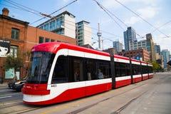 Neue Straßenbahnen Torontos Lizenzfreies Stockfoto