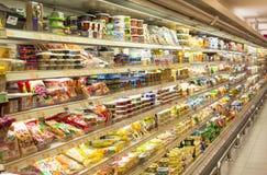 Neue Supermarkt-Abteilung Stockfotos