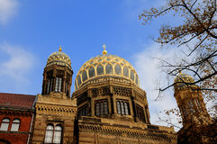 Neue Synagoge. View of the beautiful Neue Synagoge in Berlin, Germany Royalty Free Stock Image
