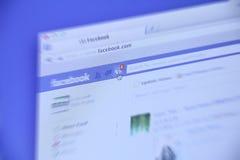 Neue Tätigkeit Facebooks Stockfotos