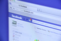 Neue Tätigkeit Facebooks Lizenzfreies Stockfoto