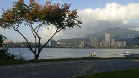 Neue Taipeh-Stadtmenschen ` s Flussufer-Fahrrad-Straßen-Landschaft, Taiwa Stockfotografie