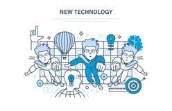 Neue Technologie Innovationsforschung Bildung, on-line-Kurse, beginnen oben und bilden aus Stockfotografie
