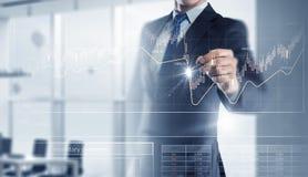 Neue Technologien für Geschäft Gemischte Medien Gemischte Medien stockbild
