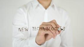 Neue Technologien, geschrieben auf Glas Stockfotos