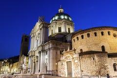 Neue und alte Kathedralen in Brescia in Italien Lizenzfreies Stockfoto