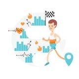 Neue und moderne Illustration Ein junger laufender Mann Lizenzfreie Stockbilder
